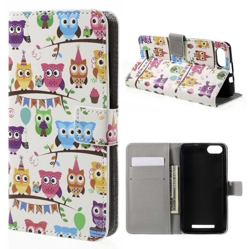 Housse wiko lenny 3 multiples hiboux for Wiko lenny 3 housse