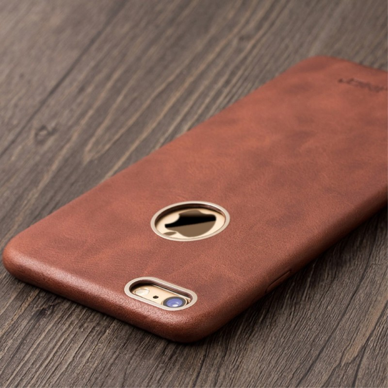 Coque Iphone Cuir Rouge