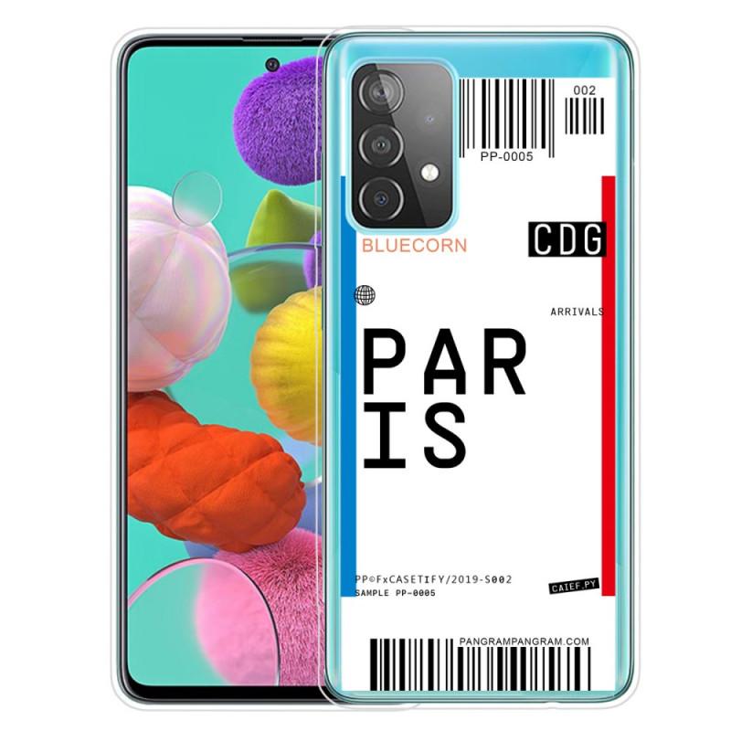 Coque Samsung Galaxy A52 4G / A52 5G Boarding Pass to Paris