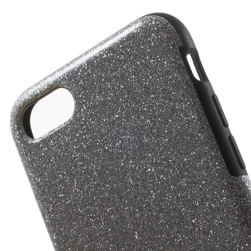coque iphone 7 paillettes noir