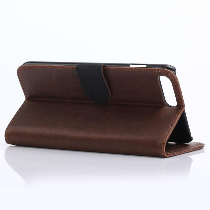 housse iphone 7 plus 8 plus simili cuir r tro. Black Bedroom Furniture Sets. Home Design Ideas