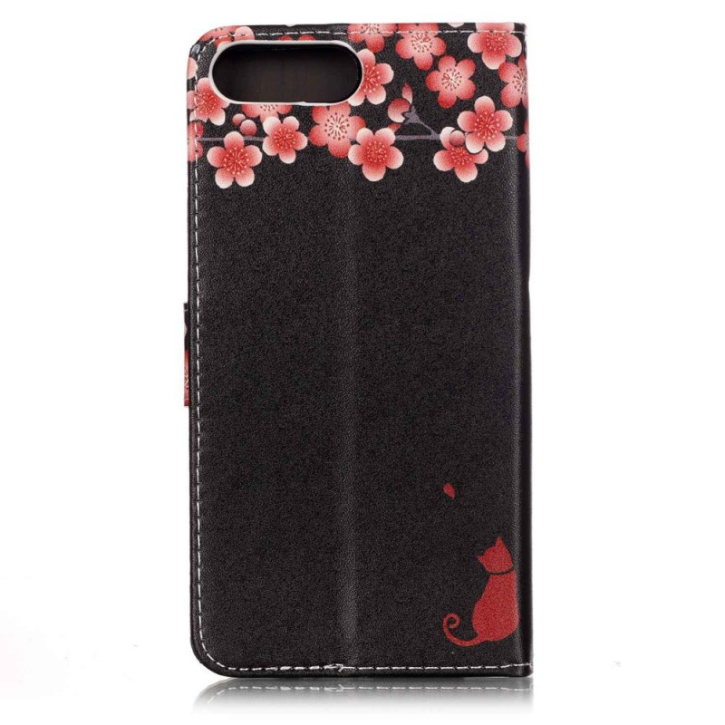 Housse iphone 7 plus 8 plus chat floral for Housse iphone 7 plus