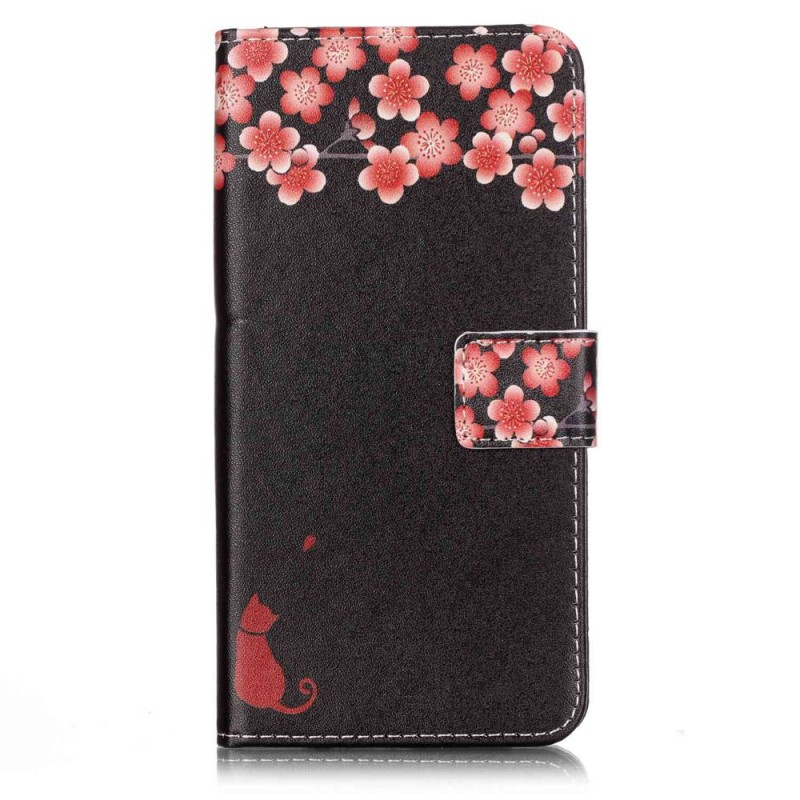 Housse iphone 7 plus 8 plus chat floral for Housse iphone 8