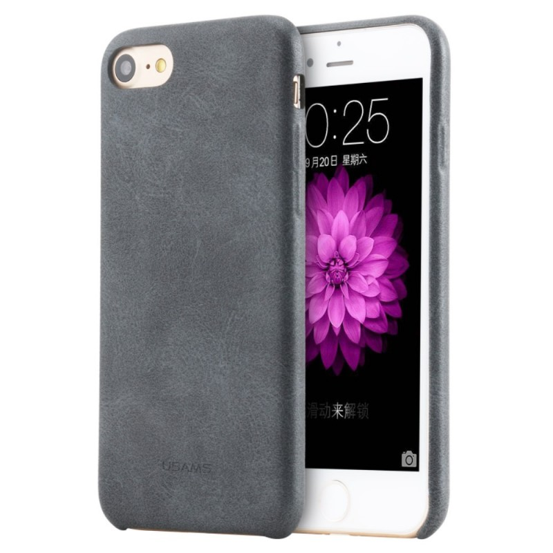 coque iphone 7 plus 8 plus effet cuir usams. Black Bedroom Furniture Sets. Home Design Ideas