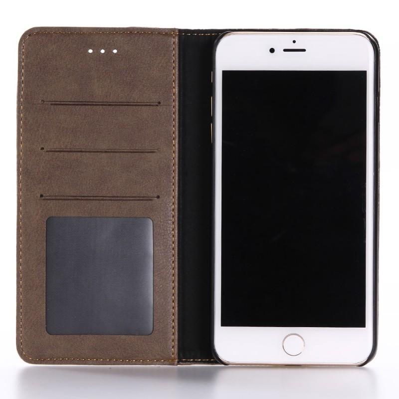 housse iphone 7 plus 8 plus effet cuir double line. Black Bedroom Furniture Sets. Home Design Ideas