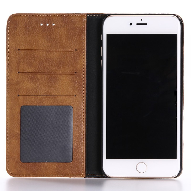 Housse iphone 7 plus 8 plus effet cuir double line for Housse iphone 8