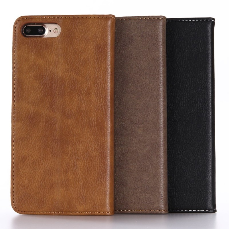 Housse iphone 7 plus 8 plus effet cuir double line for Housse iphone 7 cuir