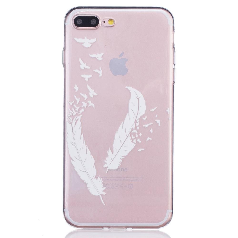 coque iphone 8 plus plume