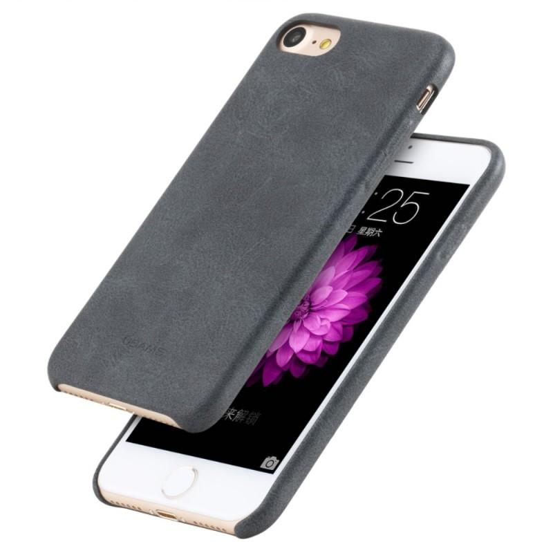coque iphone 7 8 effet cuir usams. Black Bedroom Furniture Sets. Home Design Ideas