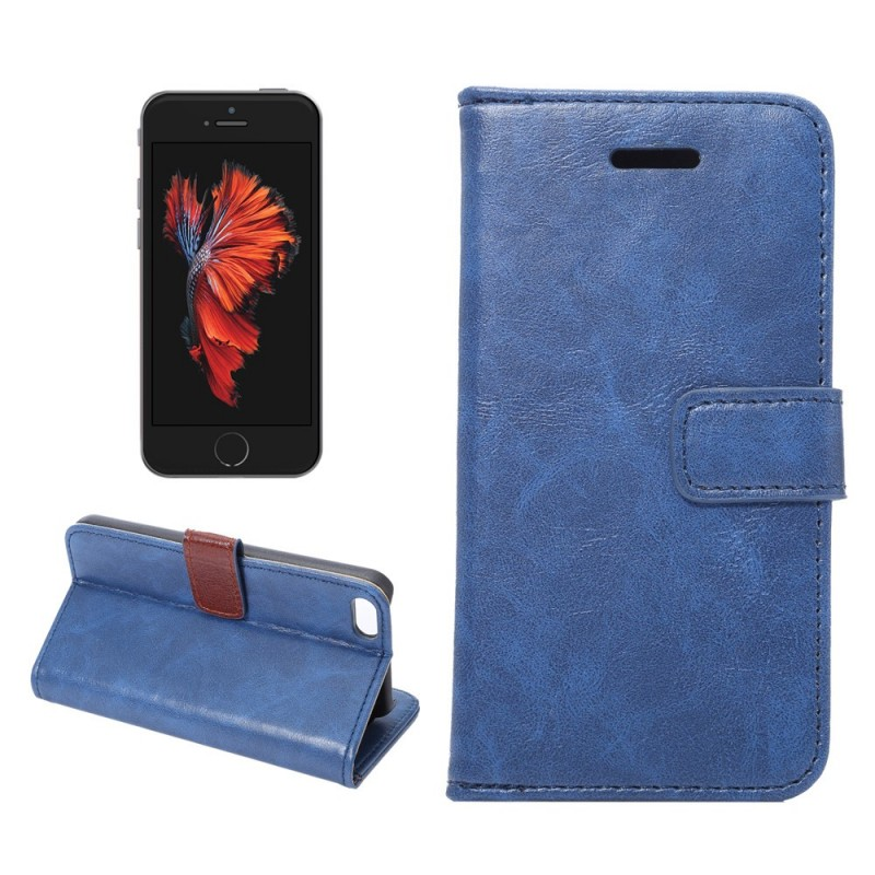 Housse iphone se 5 5s simili cuir for Iphone housse cuir