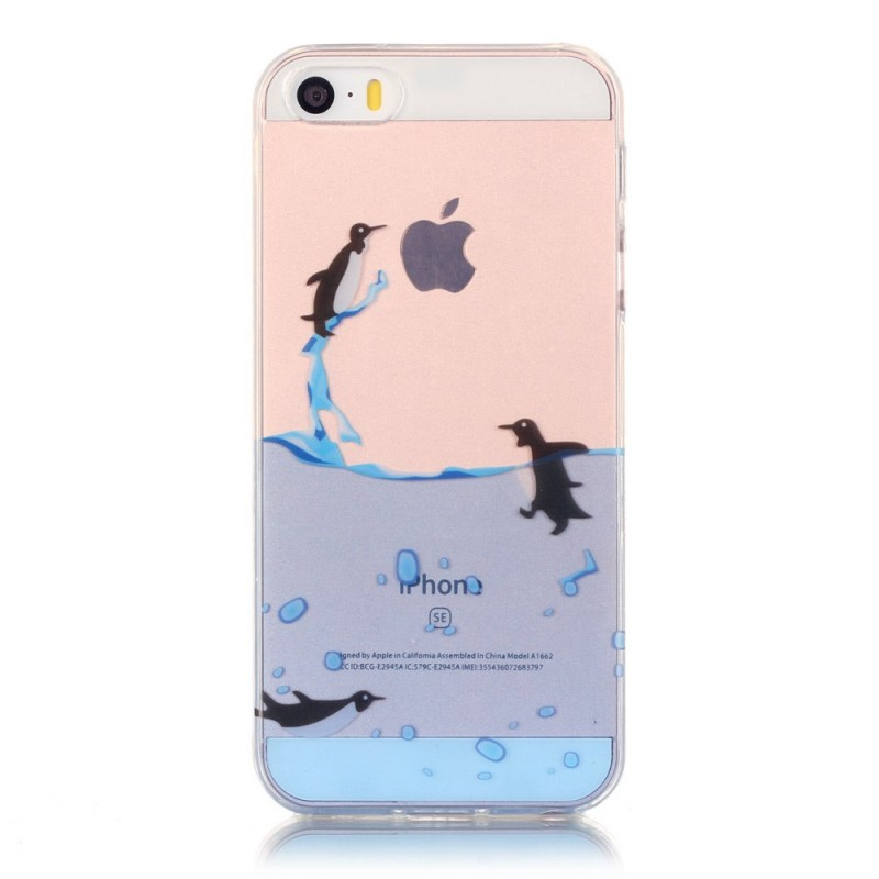 coque iphone se 5 5s transparente jeu de pingouins. Black Bedroom Furniture Sets. Home Design Ideas