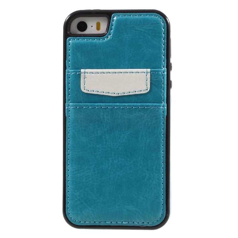 Coque iphone se 5 5s simili cuir porte cartes - Coque porte carte iphone se ...