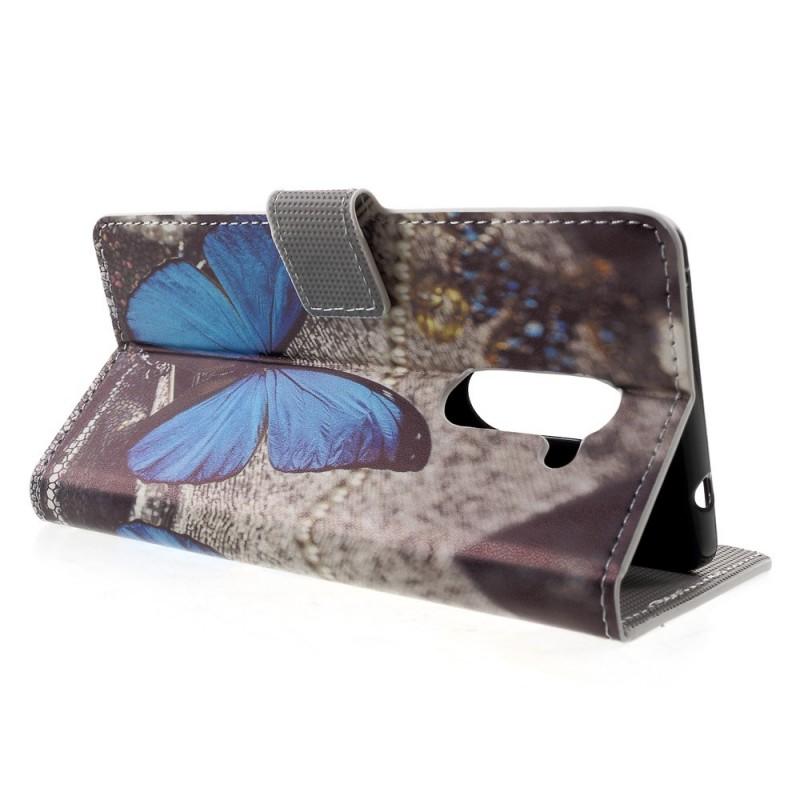 housse huawei honor 6x papillon bleu