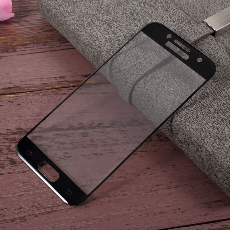 protection en verre tremp color e pour samsung galaxy a3 2017. Black Bedroom Furniture Sets. Home Design Ideas