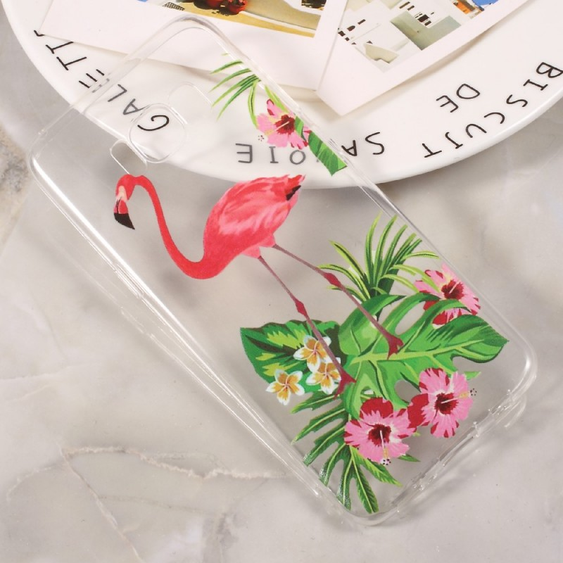 coque samsung galaxy j3 flamant rose