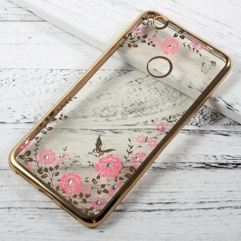 Coque Huawei P8 Lite 2017 Diamants, Fleurs et Papillons