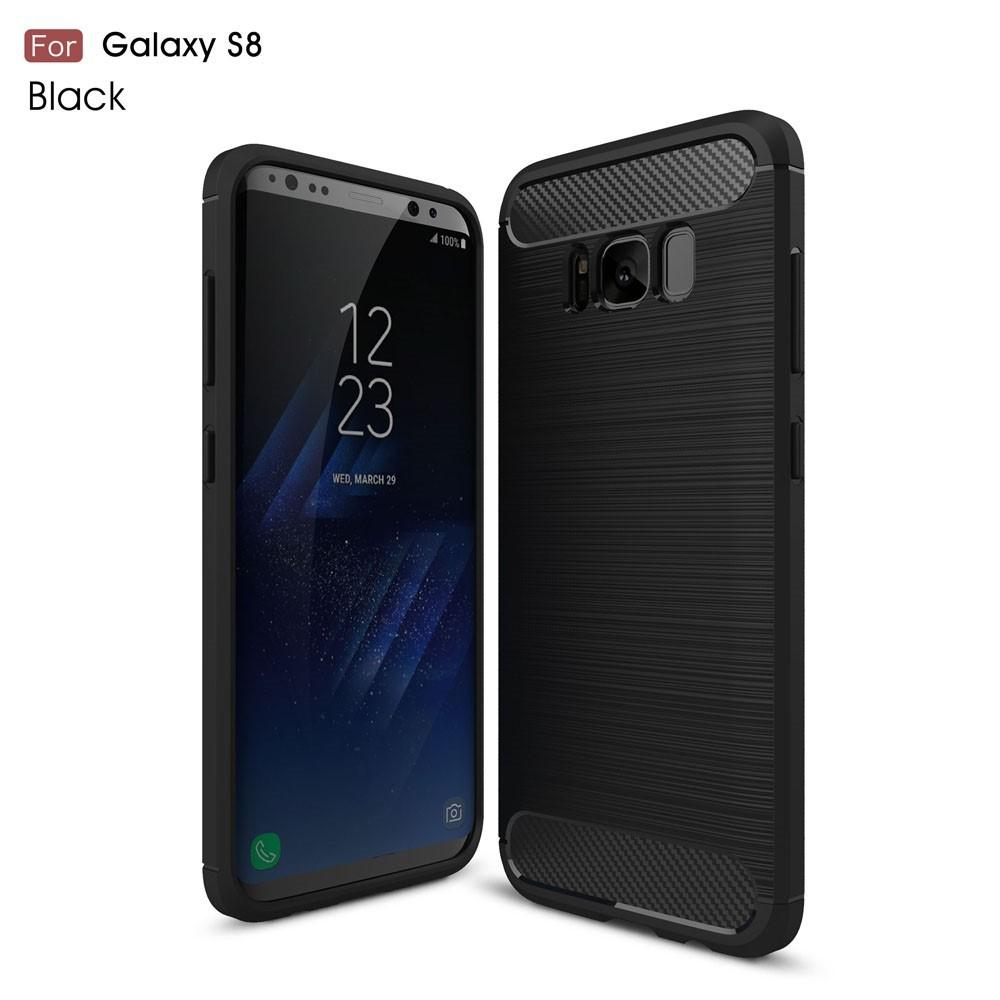 Coque Samsung Galaxy S8 Fibre Carbone Brossée