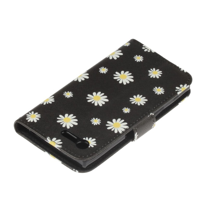 housse sony xperia x compact jolies marguerites