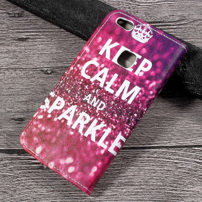 housse huawei p10 lite keep calm and sparkle. Black Bedroom Furniture Sets. Home Design Ideas