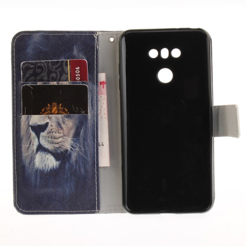 Housse lg g6 dreaming lion for Housse lg g6
