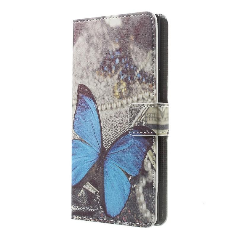 Housse sony xperia xz premium papillon bleu for Housse xperia xz