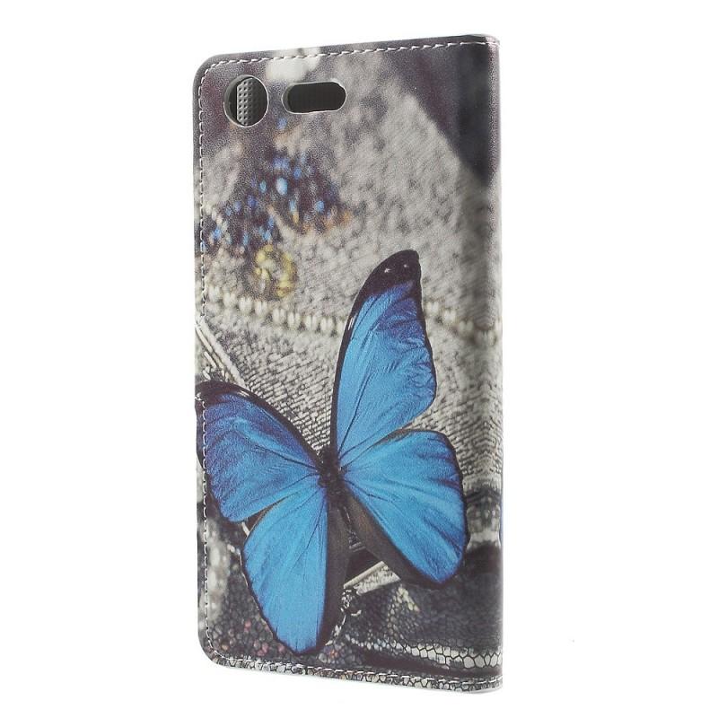Housse sony xperia xz premium papillon bleu for Housse xperia xz premium