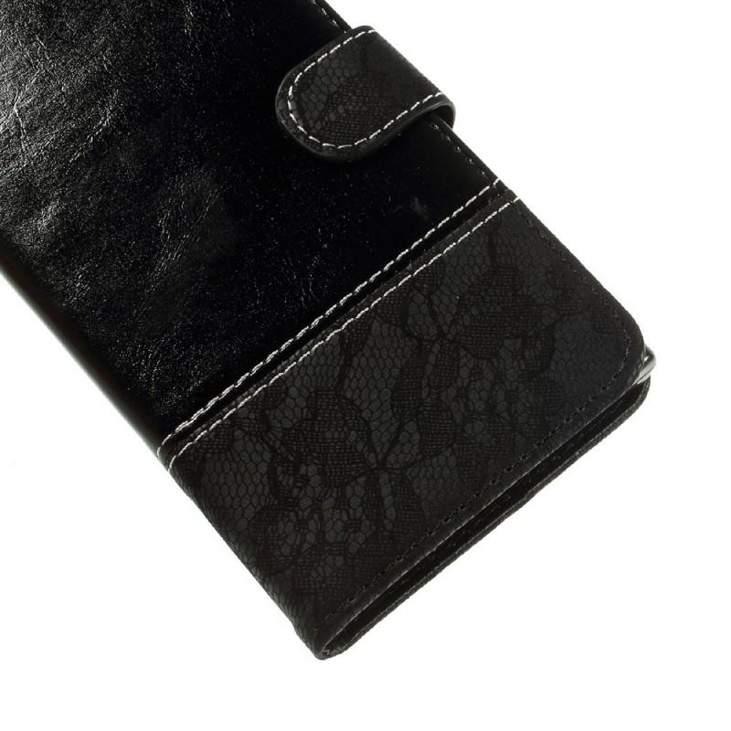 Housse sony xperia xz premium simili cuir bicolore dentelle for Housse xperia xz