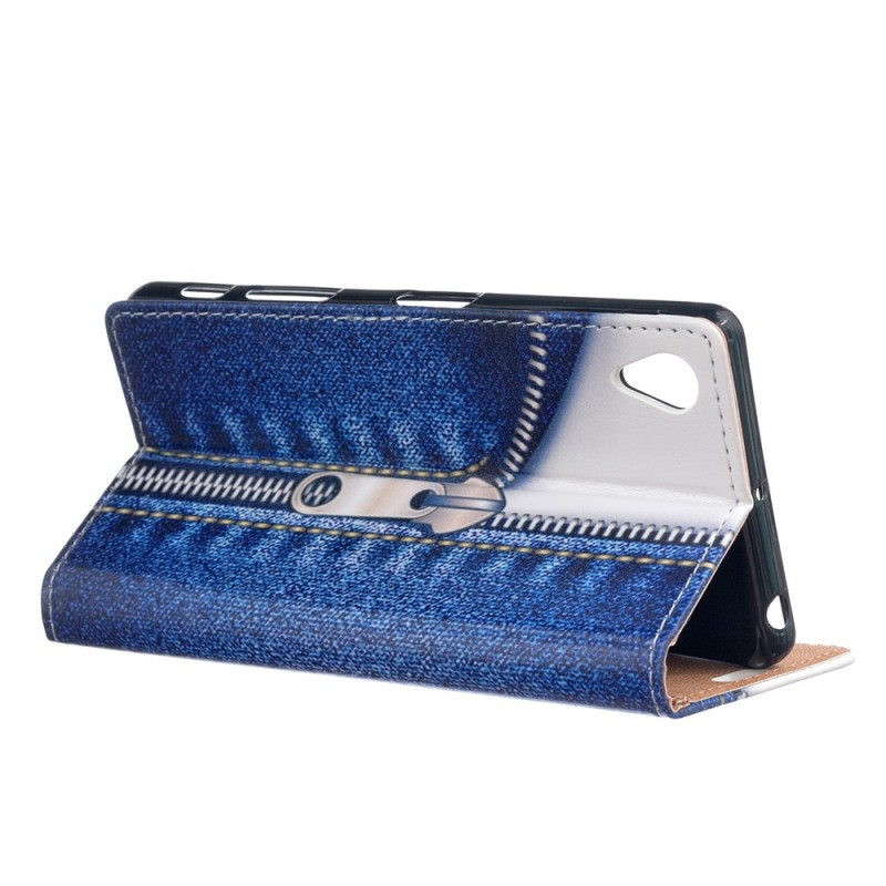 Housse sony xperia l1 fermeture jeans for Housse xperia l1