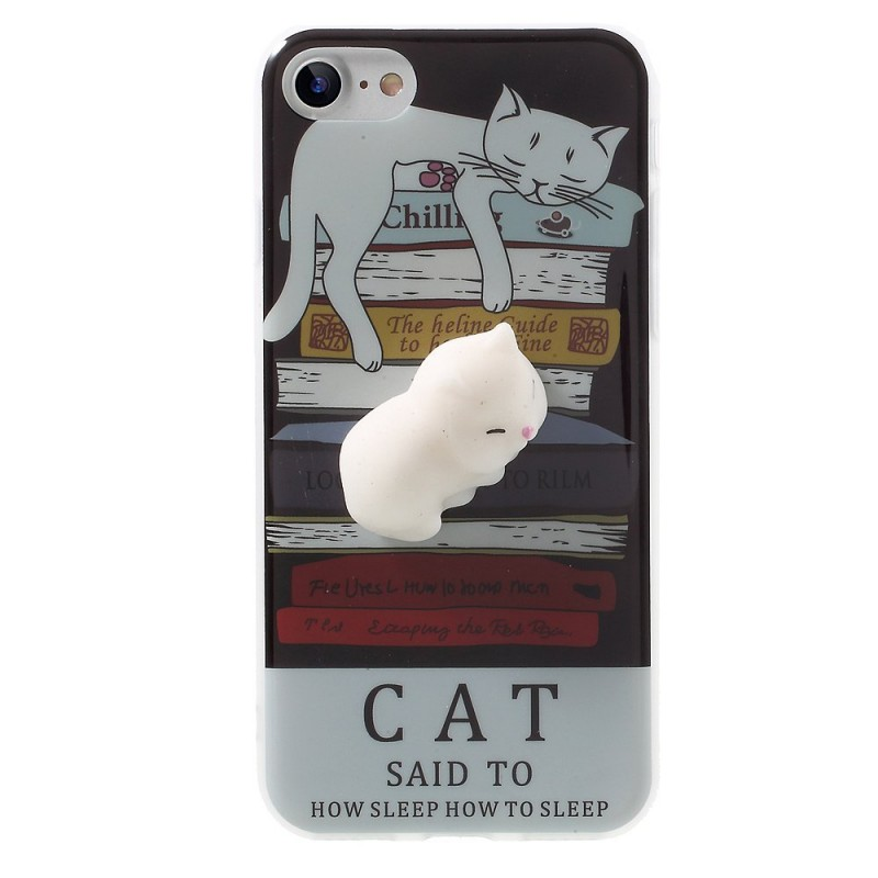 coque iphone 8 chat 3d