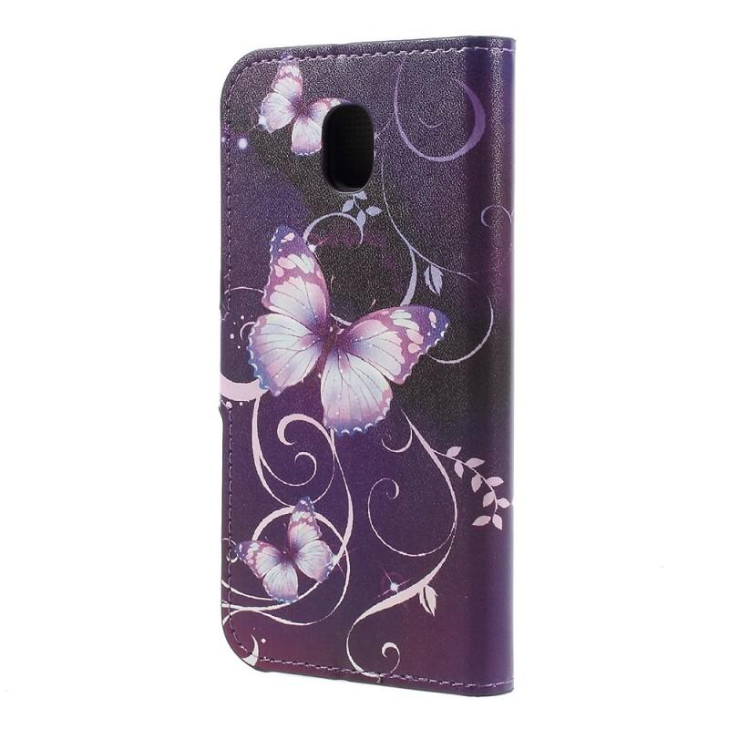 Housse samsung galaxy j5 2017 papillons et fleurs for Housse samsung galaxy s