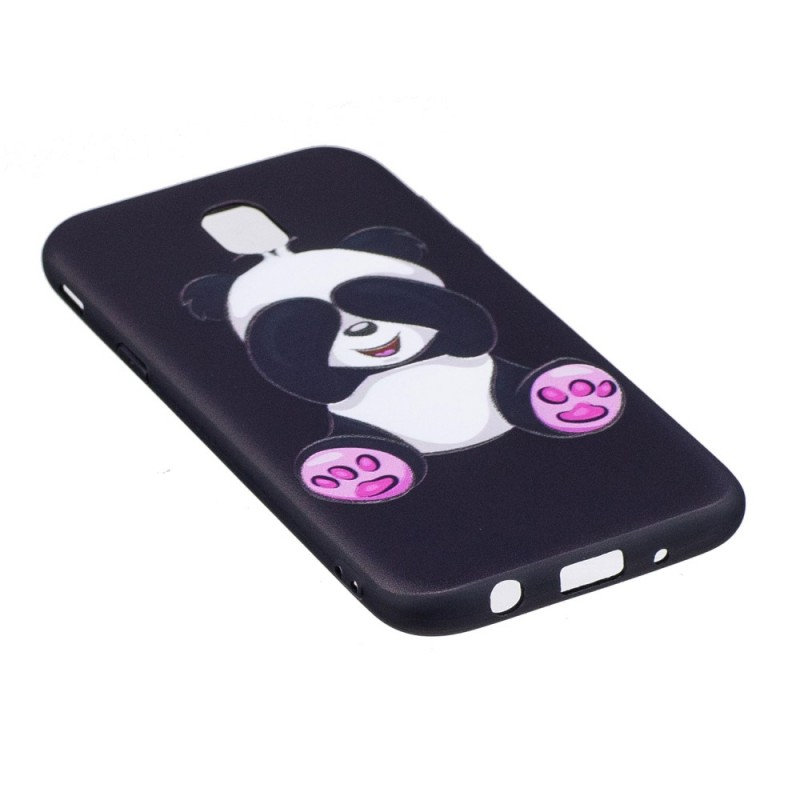 coque samsung galaxy j5 2017 en relief panda fun. Black Bedroom Furniture Sets. Home Design Ideas