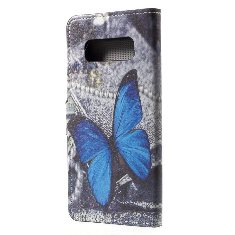Housse samsung galaxy note 8 papillon bleu for Housse galaxy note 8