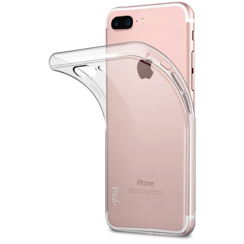 coque iphone 8 plus a rabat transparente