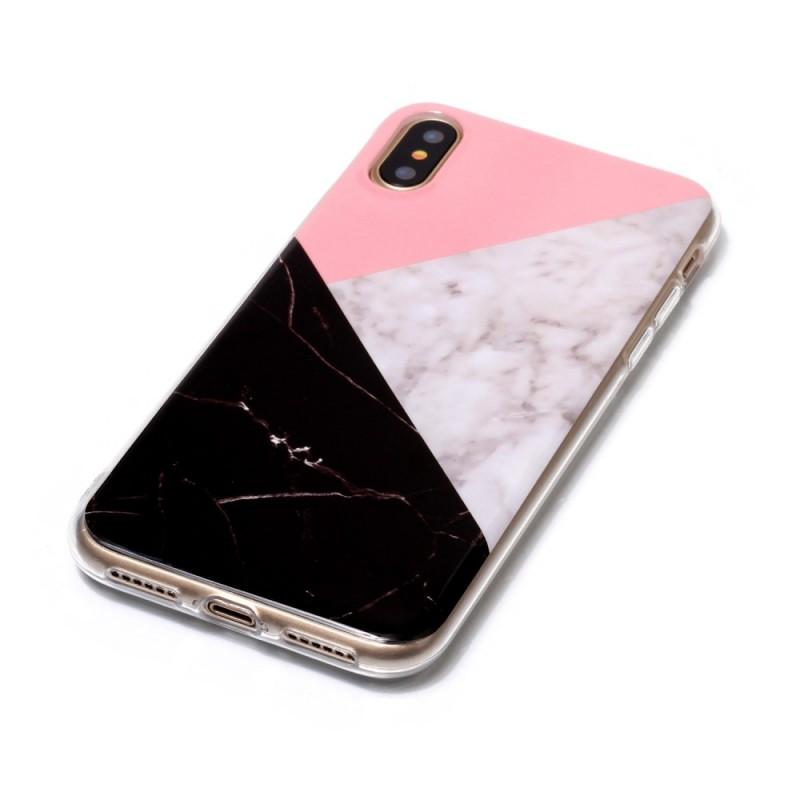 coque effet marbre iphone x