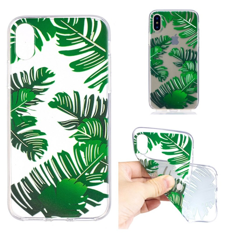coque iphone x feuille