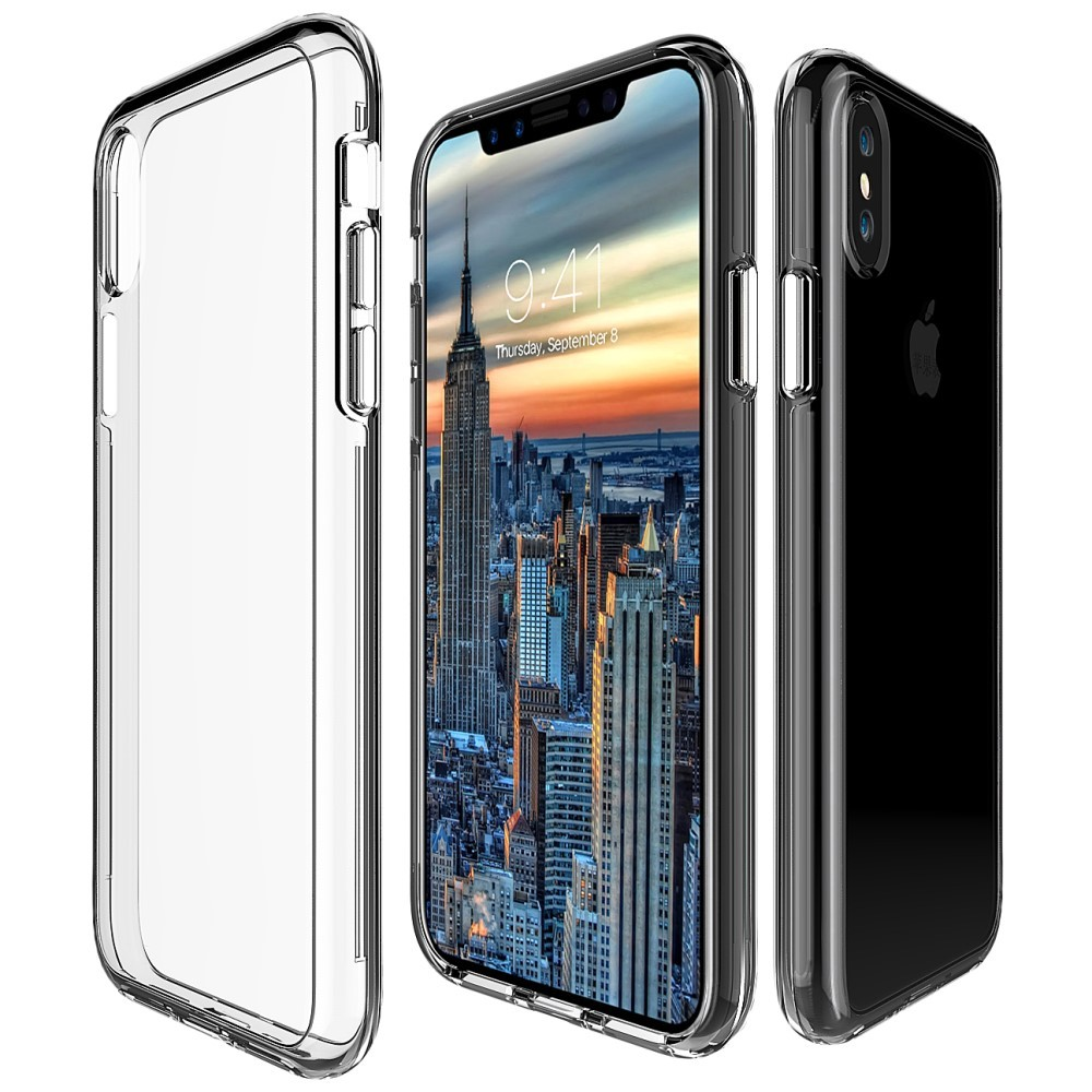 coque iphone x transparent plastique rigide