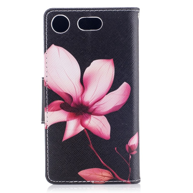 Housse sony xperia xz1 compact fleur rose for Housse xperia x compact
