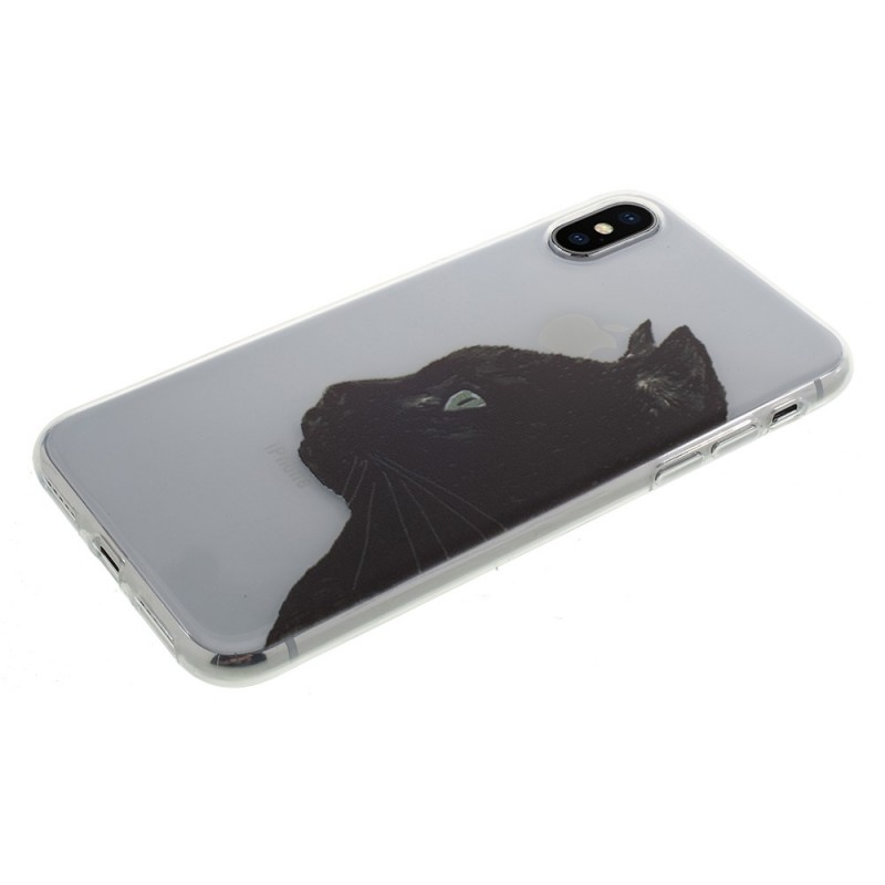 coque iphone xr chat noir