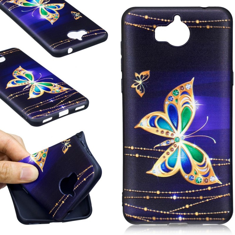 coque a clapet huawei y6 2017