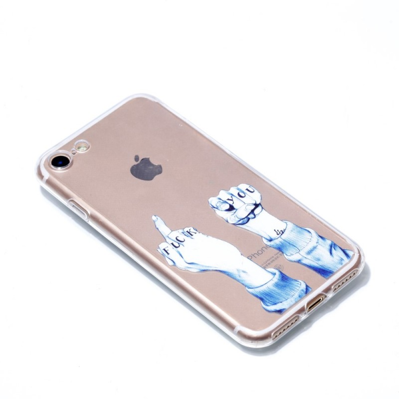 coque iphone 8 doigt