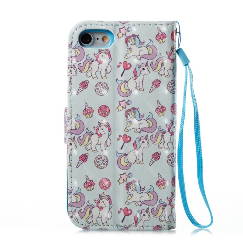 Housse iphone 7 8 multiples licornes for Housse iphone 8