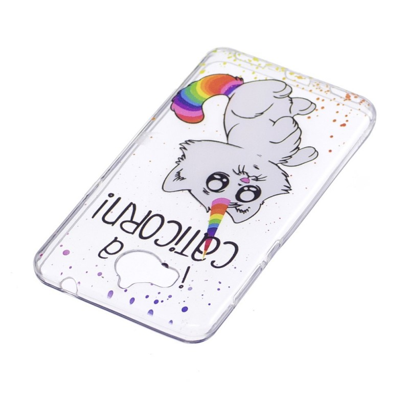 coque huawei y6 2017 i 39 m a rainbow caticorn. Black Bedroom Furniture Sets. Home Design Ideas