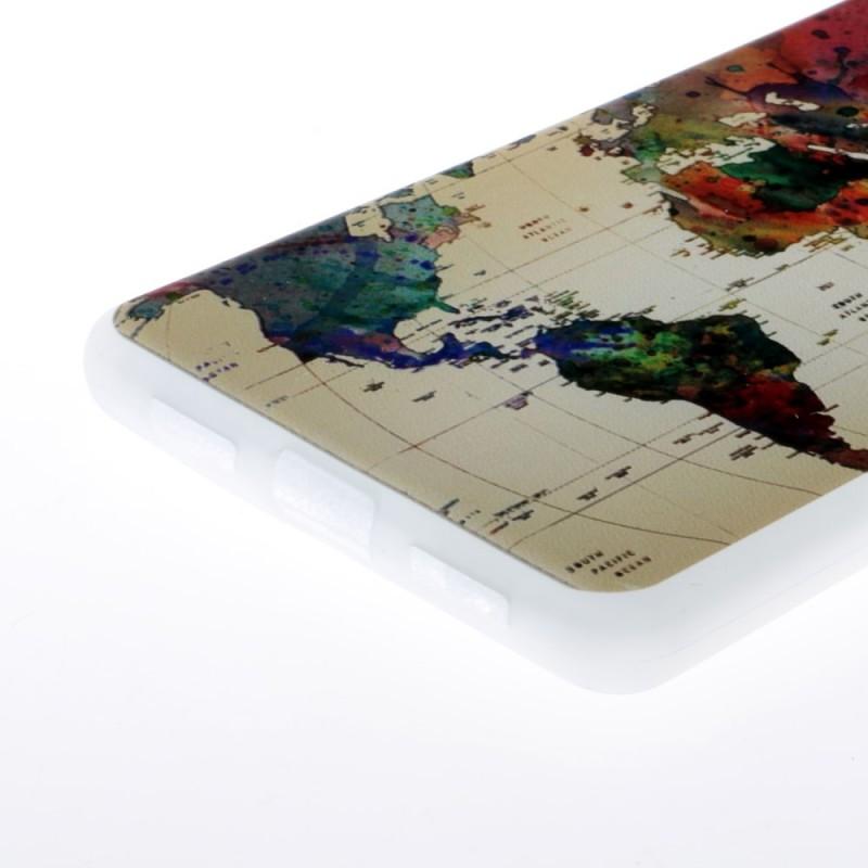 coque huawei p9 lite carte du monde