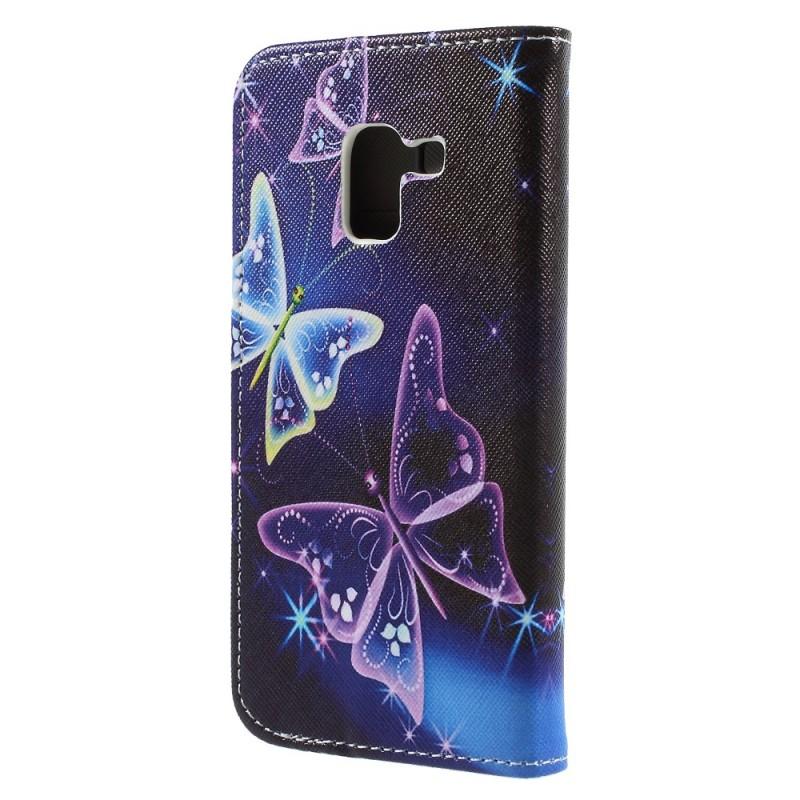 Housse samsung galaxy a8 2018 butterflies for Housse samsung galaxy