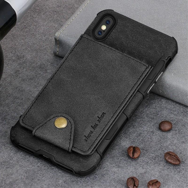 coque iphone x porte cartes rabattable