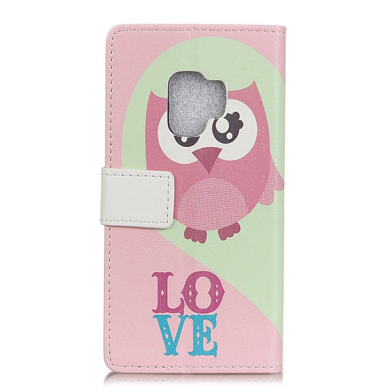 Housse samsung galaxy s9 hiboux love for Housse samsung galaxy s