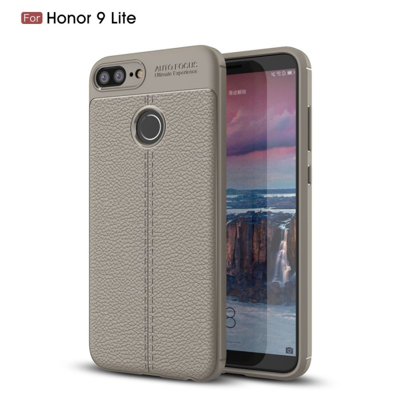 coque huawei honor 9 lite effet cuir litchi double line. Black Bedroom Furniture Sets. Home Design Ideas