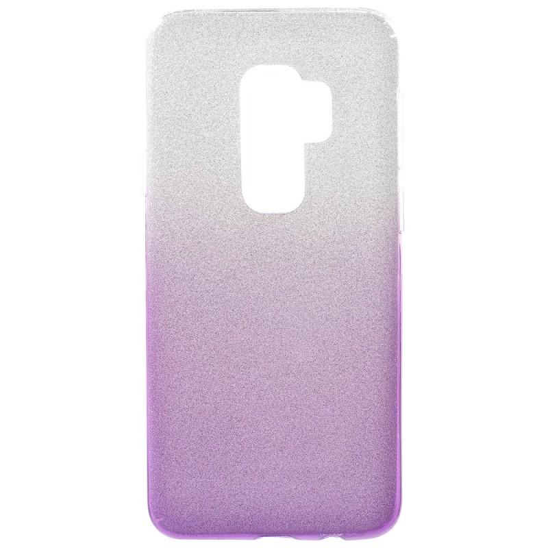 coque samsung s9 violette pailletée