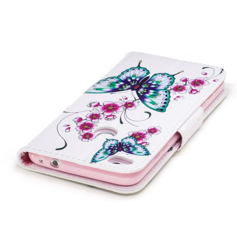 housse huawei p8 lite 2017 merveilleux papillons. Black Bedroom Furniture Sets. Home Design Ideas