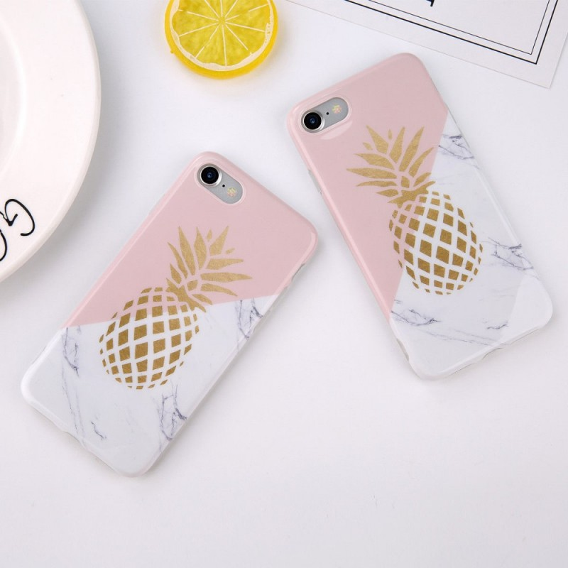 coque iphone 8 ananas marbre